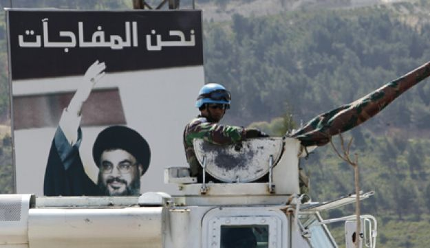 A UN patrol in southern Lebanon, where Hezbollah clashed with Israel in 2006