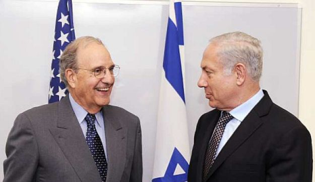 George Mitchell and Benjamin Netanyahu Getty Images May 6, 2010