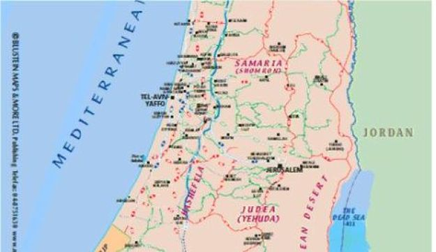 Israel Tourism Ministry map, 2009