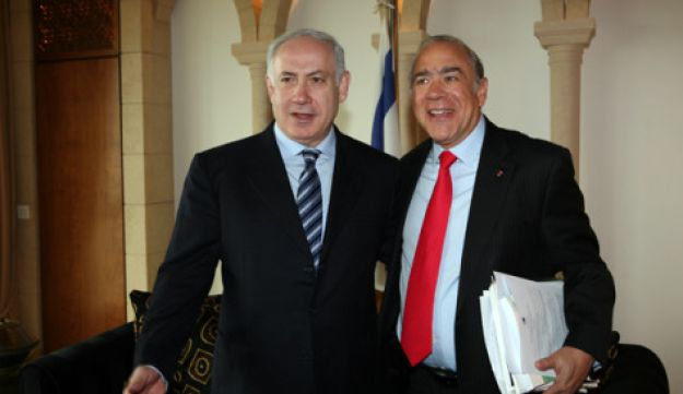 Prime Minister Benjamin Netanyahu and OECD Secretary-General Angel Gurría, January 20, 2010