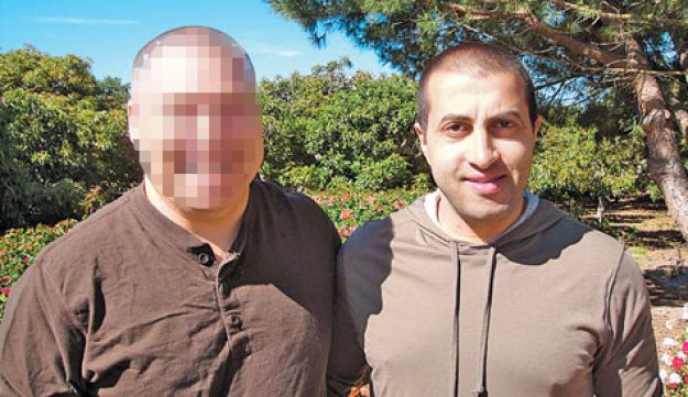 The Shin Bet handler, left, and Mosab Yousef.