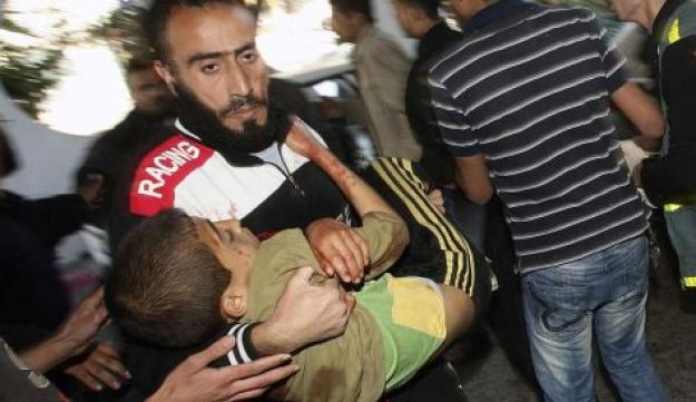 Injured Palestinian in Gaza - Reuters - March 22, 2011