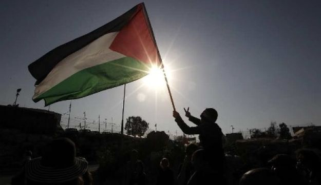 Palestinian flag - Reuters - March 18, 2011