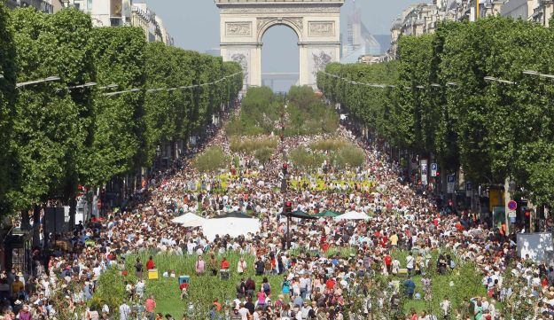 The Champs Elysees in Paris, France