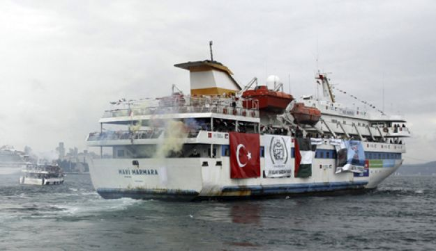 A Turkish cruise ship carrying pro-Palestinian activists en route to Gaza