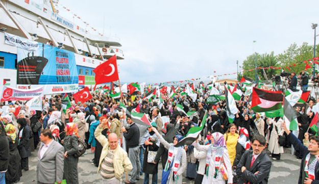 Gaza flotilla launched from Turkey.