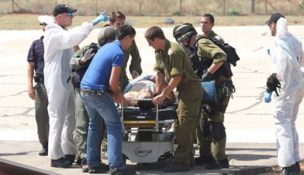 A man wounded aboard a Gaza-bound aid convoy