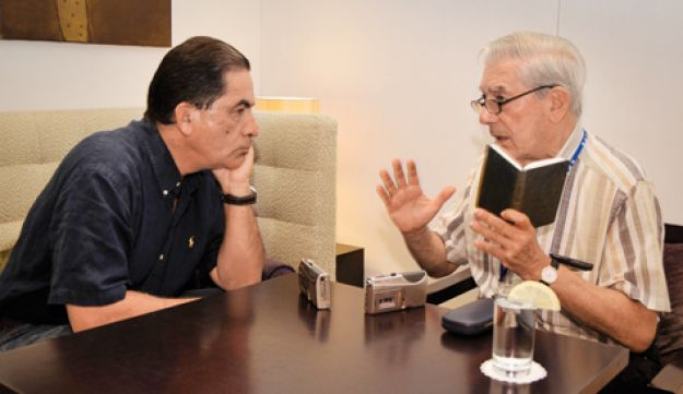 Gideon Levy and Mario Vargas Llosa