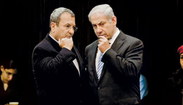 Barak and Netanyahu in the Knesset - Olivier Fitoussi - December 2011