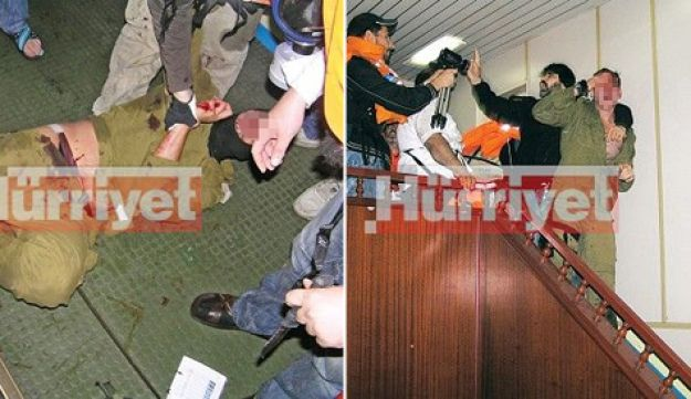 Turkish photos of beaten Israeli soldiers aboard the Mavi Marmara