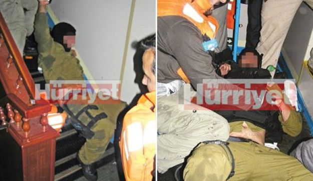 Turkish photos of beaten Israeli navy commandos aboard the Mavi Marmara