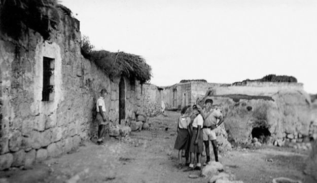 Haganah scouts in action, from the village file of Al-Kubeb, 1947. The scout's faces were blurred so they could not be identified.
