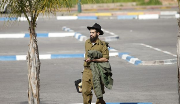 Ultra-Orthodox soldier at IDF recruitment base.