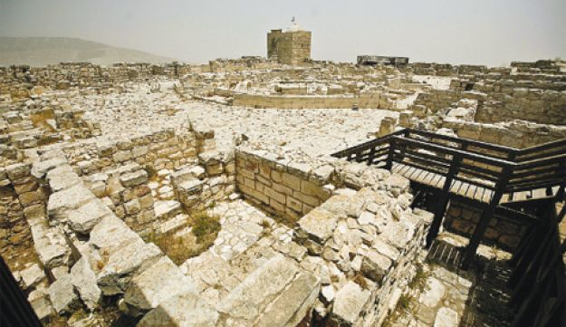 The uncovered 2,000-year-old Samaritan city on Mount Gerizim in the West Bank.