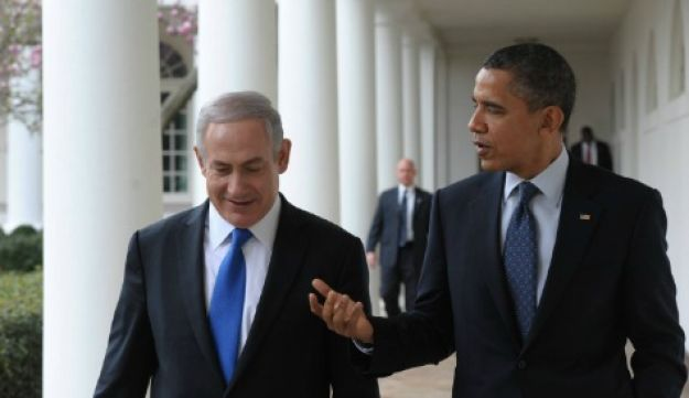 Netanyahu with Obama at the White House - Amos Ben Gershon / GPO -  March 5, 2012.