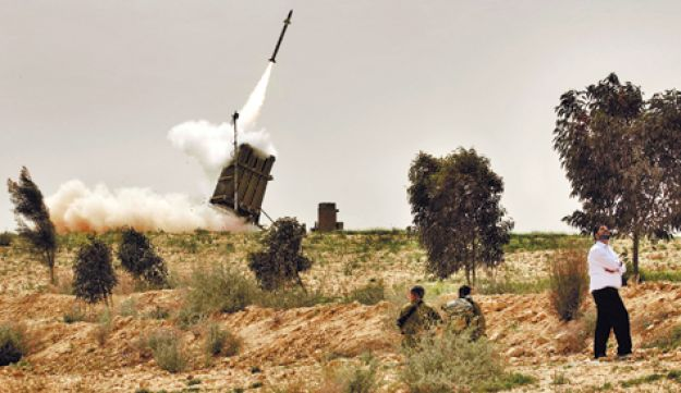 An Iron Dome battery - AFP