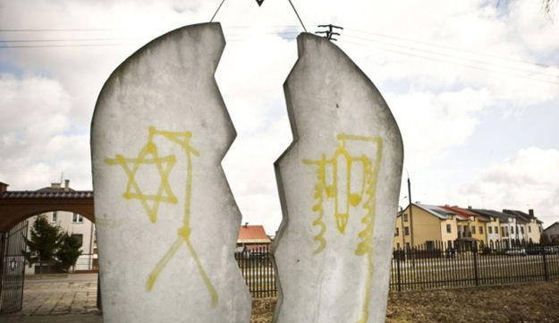 anti-Semitism, graffiti, vandal - AP - 19.3.12
