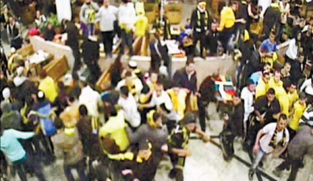 An image grab of the incident from security cameras at the mall.