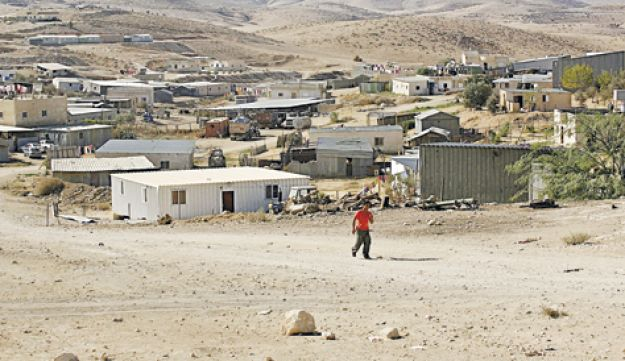 An unrecognized Bedouin village in the Negev.