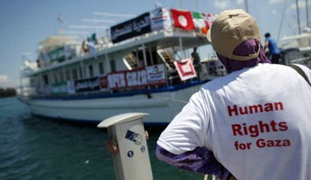 Gaza flotilla July 2, 2011 (Reuters)
