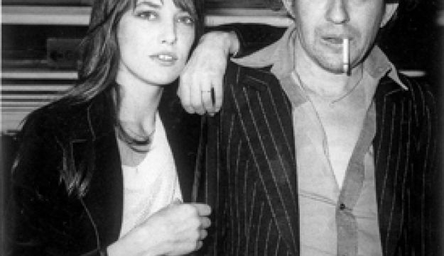 Serge Gainsbourg pictured with Jane Birkin in London, 1977.