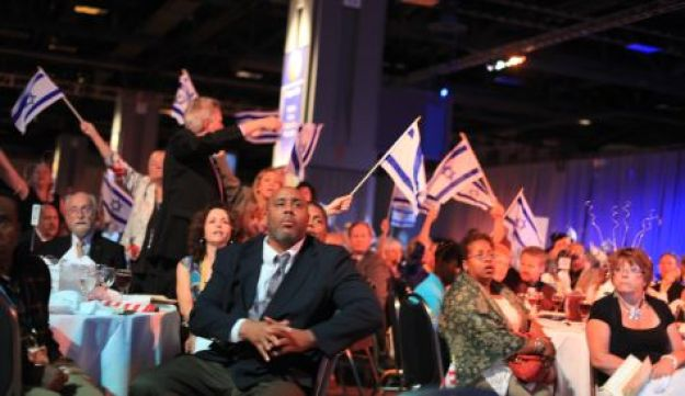 Delegates at the Christians United for Israel conference in Washington, June 21, 2010.