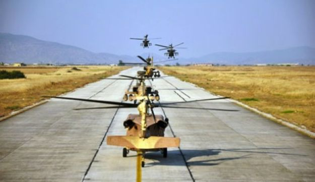 Israeli and Greek helicopters - Israel Air Force