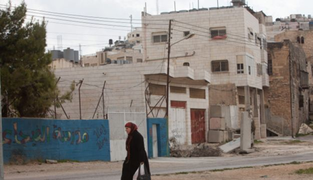A Palestinian house in Hebron occupied by settlers