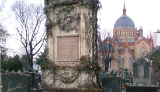A tombstone.