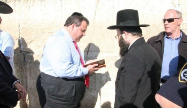 New Jersey Governor Chris Christie at the Western Wall - April 2, 2012