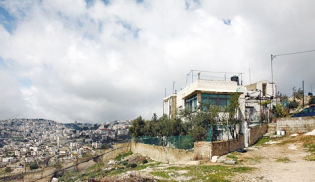 The East Jerusalem neighborhood of Abu Dis.