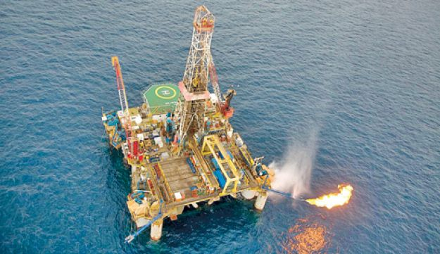 The Tamar gas platform - Albatross - July 10 2011