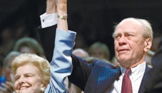 Betty and GeraldFord at the Republic National Convention in 2000 - Reuters