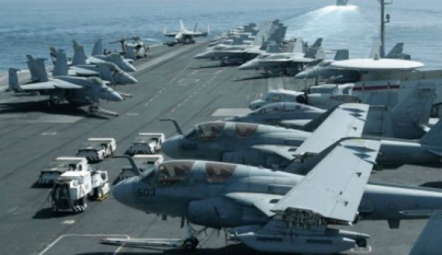 The USS carrier Abraham Lincoln in the Persian Gulf