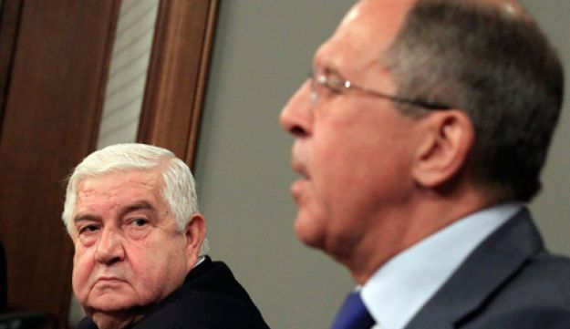 Sergey Lavrov and Walid Moallem - AP - 10.4.2012
