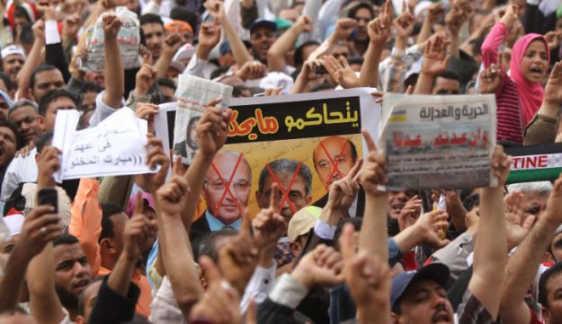 Thousands of Islamists demonstrate in Tahrir Square, April 13, 2012.
