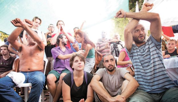 Israel housing protest - Tali Mayer - July 26 2011.