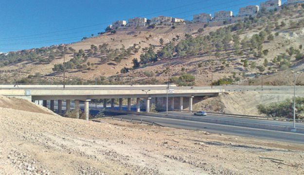A road near the West Bank settlement of Ma'aleh Adumim