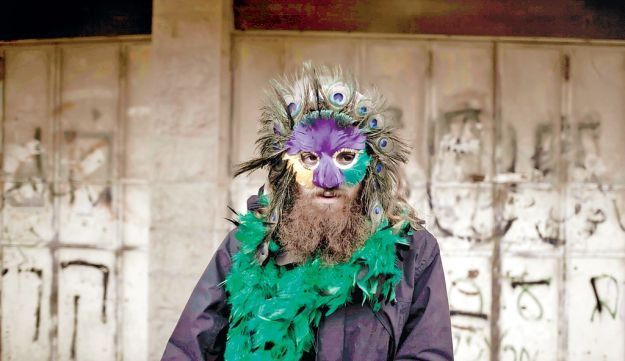 """""""Hebron Purim,"""" 2010, from Wohlberg's photo exhibit 'Dissemblance' at Ashdod Museum of Art."""