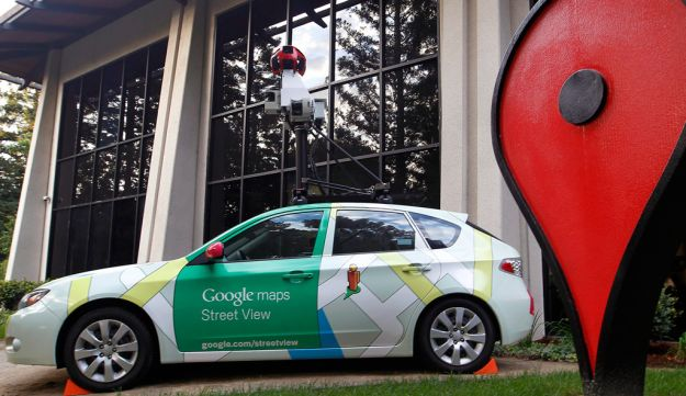 A Google street view car is displayed at the Google Inc. headquarters in Mountain View, California,