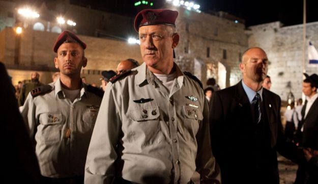 Chief of Staff Lt. Gen. Benny Gantz at the Memorial Day opening ceremony, April 25, 2012.