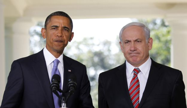 Obama and Netanyahu at the White House on September 1, 2010. AP