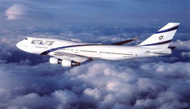 An El Al airplane in flight.