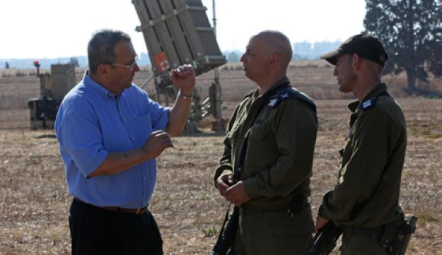 Ehud Barak and Iron Dome - Defense ministry - August 29 2011
