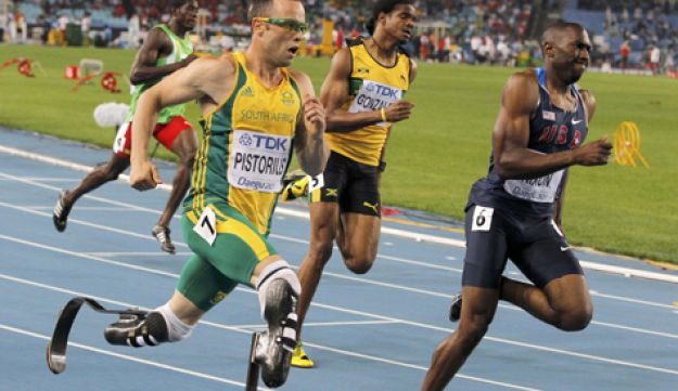 Oscar Pistorius of South Africa - Reuters - August 29 2011