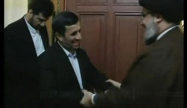 Ahmadinejad with Nasrallah in Beirut Channel 2 October 14, 2010