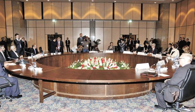 Officials of key world powers and Iran meeting in Istanbul.