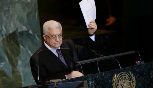 Palestinian President Mahmoud Abbas addresses UN General Assembly, September 23, 2011.