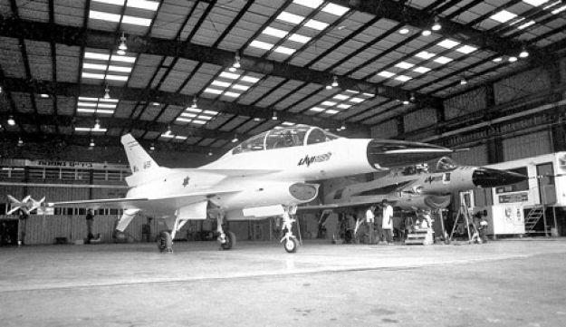 A Lavi fighter aircraft prototype.