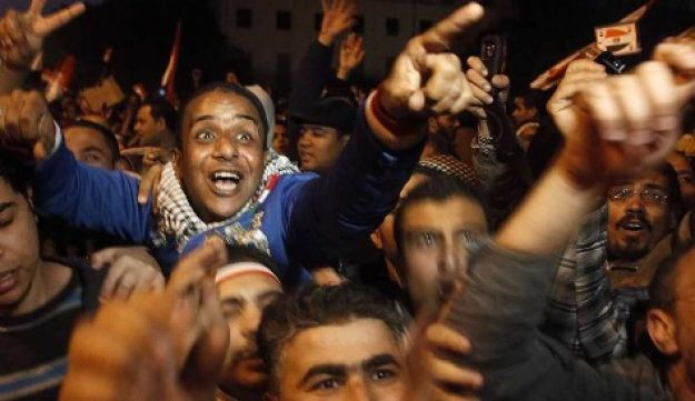 Egyptians celebrate - Reuters - Feb. 11, 2011